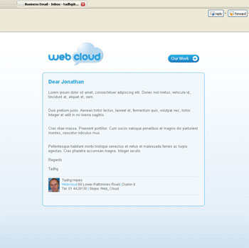 Webcloud  Business Email Branding